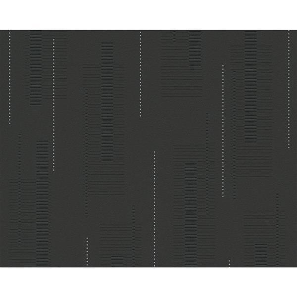 A.S. Creation Spot 2 Soft Geometric Wallpaper Roll - 21 -in - Black/White