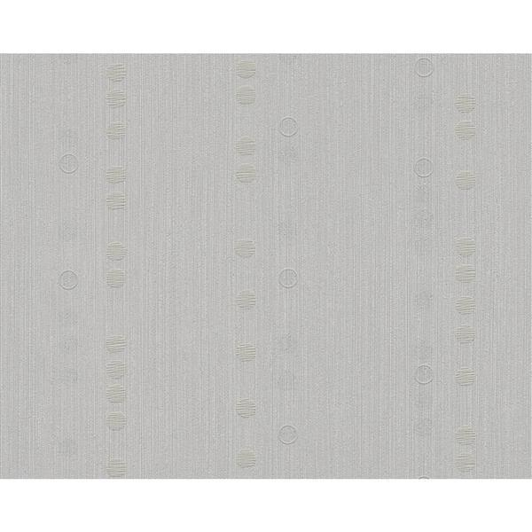A.S. Creation Spot 2 Geometric Wallpaper Roll - 21 -in - White/Light Gray