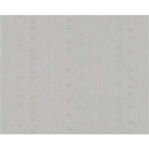 A.S. Creation Spot 2 Geometric Wallpaper Roll - 21 -in - White/Light Gray