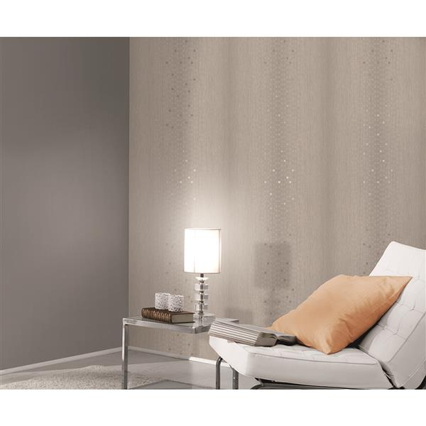 A.S. Creation Spot 2 Soft Geometric Wallpaper Roll - 21 -in - Light Gray