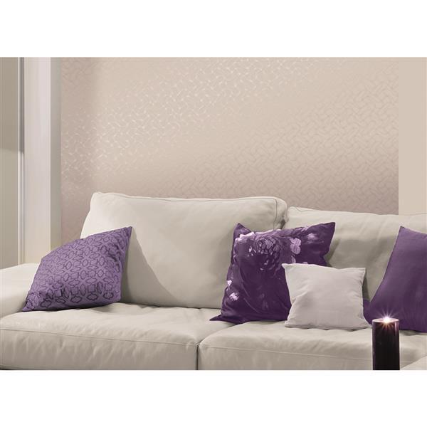 A.S. Creation Spot 2 Geometric Wallpaper Roll - 21 -in - Cream/Light Violet