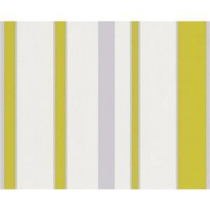 A.S. Creation Shoner Wohnen 5 Floral Wallpaper Roll - 21 -in - White/Green