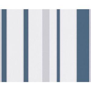 A.S. Creation Shoner Wohnen 5 Wallpaper Roll - 21 -in - White/Light Blue