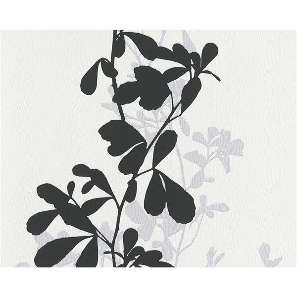 A.S. Creation Shoner Wohnen 5 Floral Wallpaper Roll - 21 -in - White/Gray