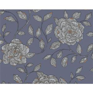A.S. Creation Shoner Wohnen 5 Wallpaper Roll - 21 -in - Light Violet/Gray