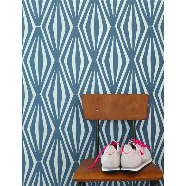 A.S. Creation Shoner Wohnen 5 Floral Wallpaper Roll - 21 -in - Blue