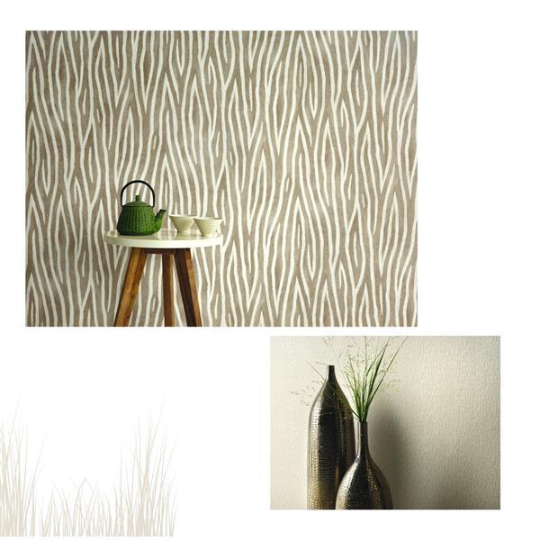 Erismann Sambesi Animal Prints Wallpaper Roll - 21-in - Beige