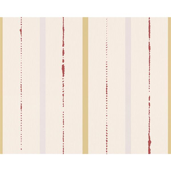 A.S. Creation Swing Line Circles Wallpaper Roll - 21 -in - Cream