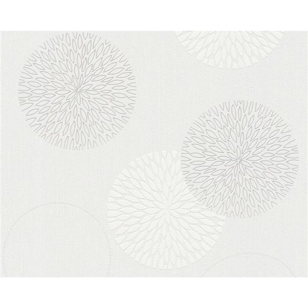 A.S. Creation Spot 3 Modern Wallpaper Roll - 21 -in - Cream/White