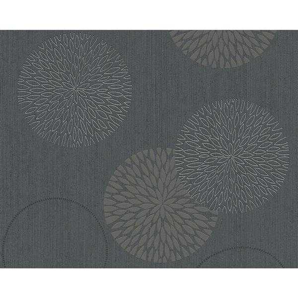 A.S. Creation Spot 3 Modern Wallpaper Roll - 21 -in - Gray/Black