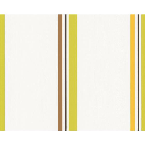 A.S. Creation Schoener Wohnen 4 Wallpaper Roll - 21 -in - White/Green