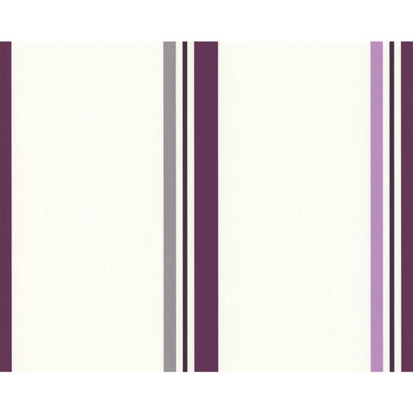 A.S. Creation Schoener Wohnen 4 Wallpaper Roll - 21 -in - Cream/Purple