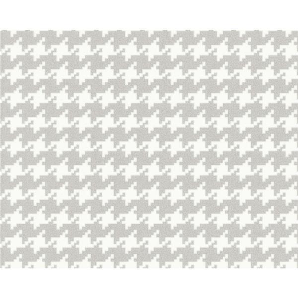 A.S. Creation Schoener Wohnen 4 Wallpaper Roll - 21 -in - White/Gray