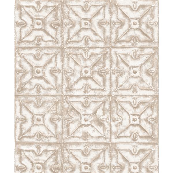 design id Modern Geometric Wallpaper Roll - 21-in - Cream