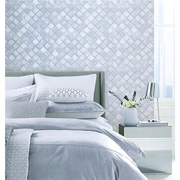 design id Modern Geometric Wallpaper Roll - 21-in - Gray