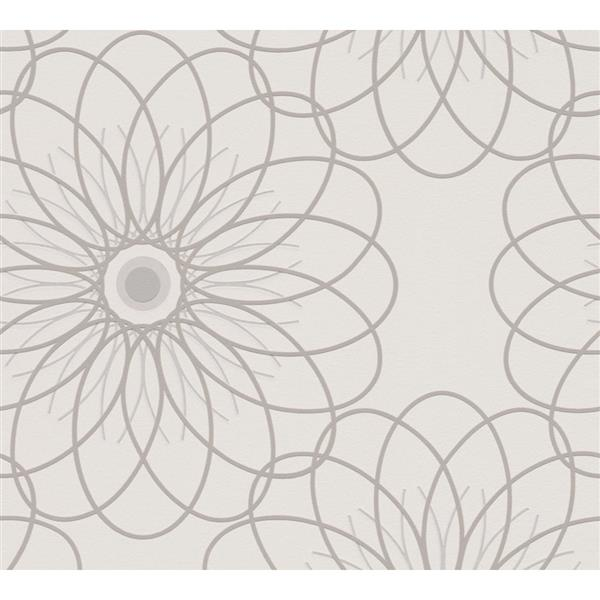 A.S. Creation RAFFI Wallpaper Roll - Abstract Floral - 21-in - Cream