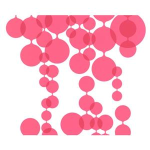 A.S. Creation Modern Abstract Wallpaper Roll - 21-in - Pink Balloons - White
