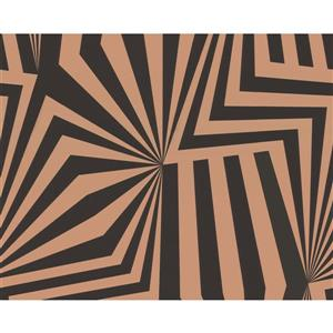 A.S. Creation Modern Abstract Wallpaper Roll - 21-in - Geometric - Black/Brown