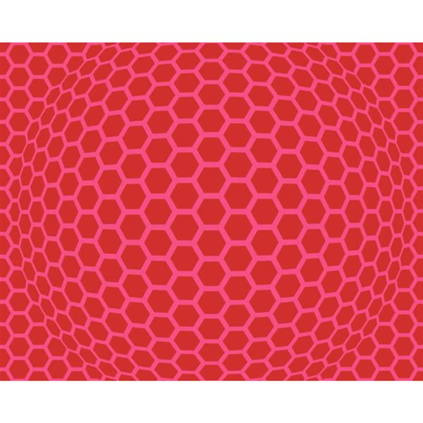 A.S. Creation Modern Abstract Wallpaper Roll - 21-in - Hexagon Pattern - Pink