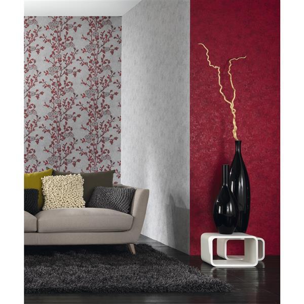 Erismann Classic Floral Wallpaper Roll - 21-in - Gray