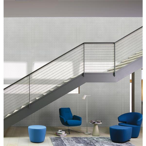 """Futuristic Wallpaper Roll - 21"""" - White"""