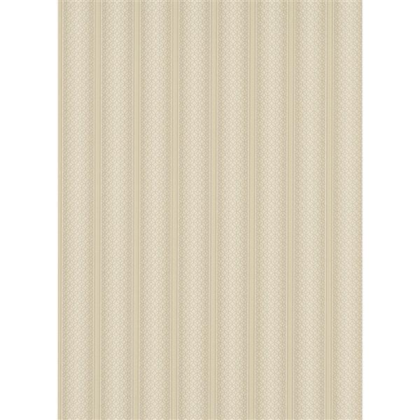 """Lavish Wallpaper Roll - 21"""" - Cream"""