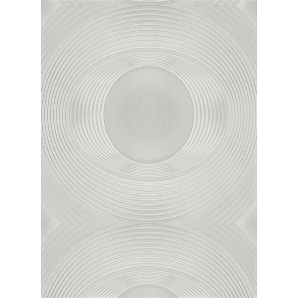 Erismann Lavish Futuristic Wallpaper Roll - 21-in - White