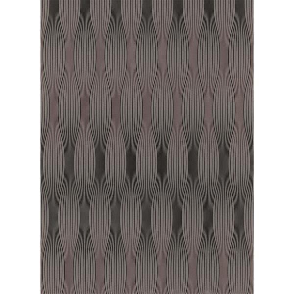 Erismann Futuristic Wallpaper Roll - 21-in - Light Brown