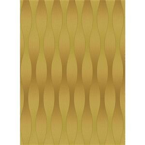 Erismann Lavish Futuristic Wallpaper Roll - 21-in - Yellow