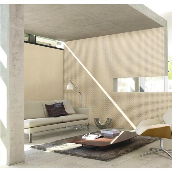 """Lavish Futuristic Wallpaper Roll - 21"""" - Beige"""