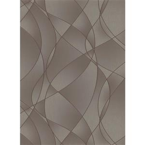 Erismann Lavish Futuristic Wallpaper Roll - 21-in - Light Brown