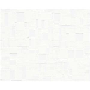 A.S. Creation Textile Look Wallpaper Roll - 21 -in - White