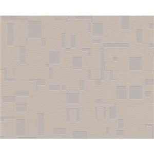 A.S. Creation Textile Look Wallpaper Roll - 21 -in - Light Brown