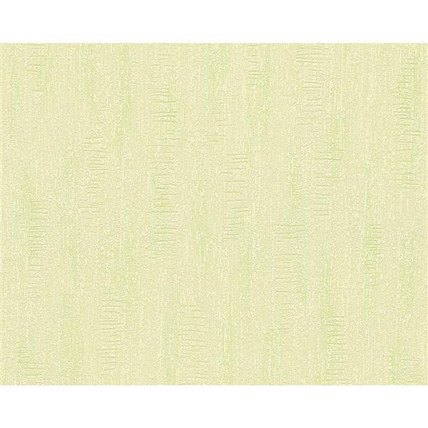 A.S. Creation Textile Look Wallpaper Roll - 21 -in - Light Green