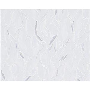 A.S. Creation Textile Look Wallpaper Roll - 21 -in - White/ Blue
