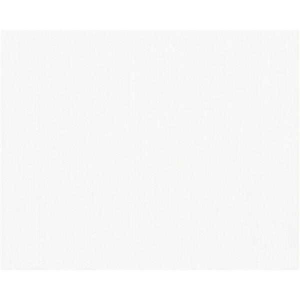 A.S. Creation Textile Look Wallpaper Roll - 21 -in - Cream/ White