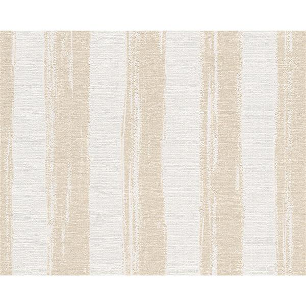 A.S. Creation Textile Look Wallpaper Roll - 21 -in - White/ Beige
