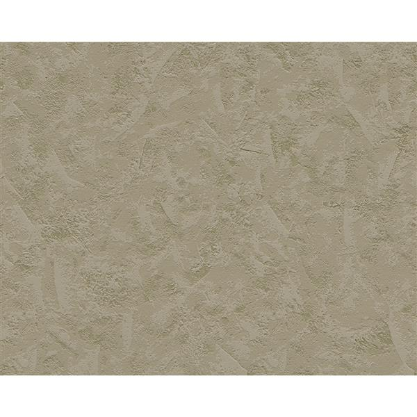 A.S. Creation Textile Look Wallpaper Roll - 21 -in - Light Green/ Brown