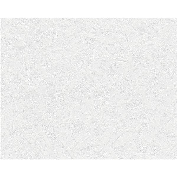 A.S. Creation Textile Look Wallpaper Roll - 21 -in - White/ Violet