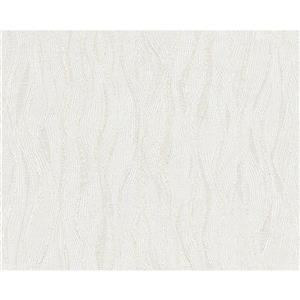A.S. Creation Textile Look Wallpaper Roll - 21 -in - White/ Gray