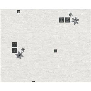 A.S. Creation Textile Flower Wallpaper Roll - 21 -in - White