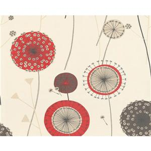 A.S. Creation Textile Flower Wallpaper Roll - 21 -in - Cream