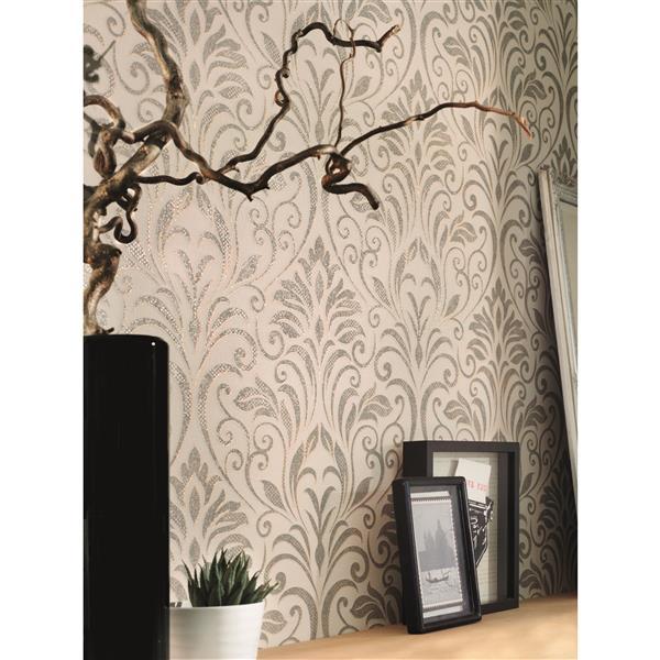 A.S. Creation Baroque Motifs Wallpaper Roll - 21-in - Beige