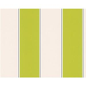 A.S. Creation Metropolis 2 Wallpaper Roll - 21-in - Beige/Green