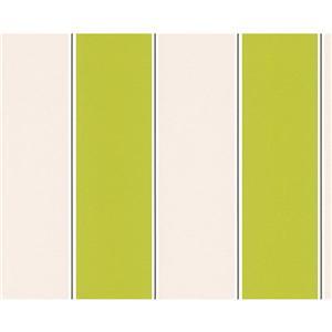 A.S. Creation Metropolis 2 Wallpaper Roll - 21-in - Beige/Green