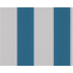 A.S. Creation Metropolis 2 Wallpaper Roll - 21-in - Blue/Grey