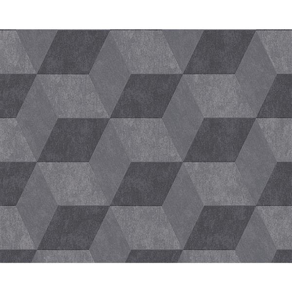 A.S. Creation Metropolis Wallpaper Roll - 21-in - Grey