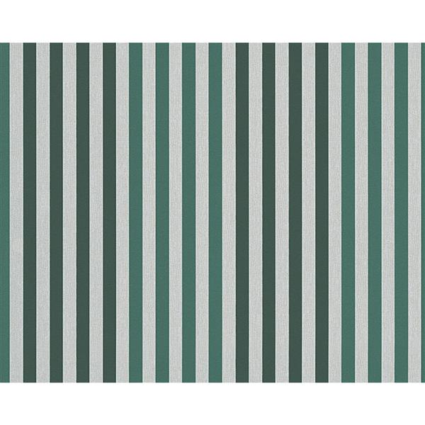 A.S. Creation Metropolis 2 Wallpaper Roll - 21-in - Stripes - Green/Cream
