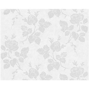 A.S. Creation Romantic Cottage Wallpaper Roll - 21-in - White