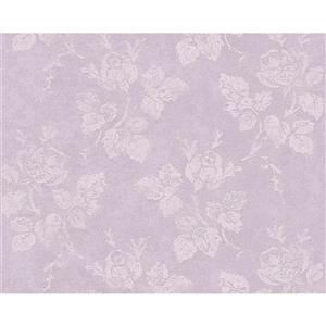 A.S. Creation Romantic Cottage Floral Wallpaper Roll - 21-in - Light Purple
